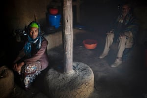 Kebebush Girma Abera, who is 17 years old and married,  poses for photograph with her father in law in his house, as part of a UNICEF photo project to show Girls Empowerment in  the village of Torban AsheFiche, Ethiopia Friday, Feb. 20, 2015.