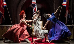 Abbi Greenland, Helena Lymbery and Helen Goalen in the National Theatre's We Want You to Watch.