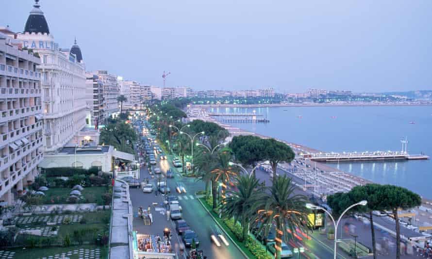 La Croisette in Cannes, France