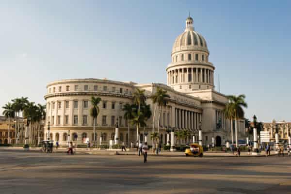 El Capitolio, Cuba's seat of government, built under the dictatorship of independence-era general Gerardo Machado in 1929.