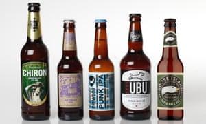 Thornbridge Chiron American Pale Ale; Battersea Rye; Brewdog Punk IPA; Purity UBU; Goose Island IPA.