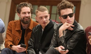 Jack Guinness, Rafferty Law and Nick Grimshaw at the Coach presentation, London Collections: Men, Spring/Summer 2016.