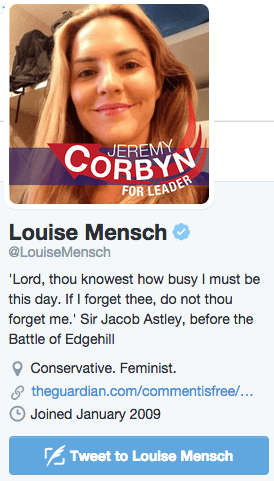 Louise Mensch Twitter profile picture