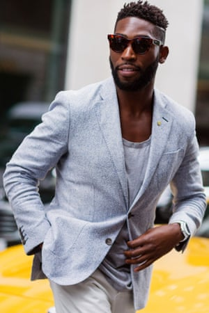 Tinie Tempah at The London Collections: Men SS16.