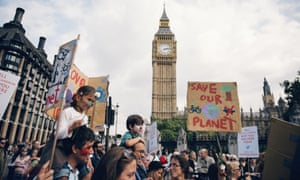 People's Climate March in London, in September 2014. Thousands are expected to lobby MPs over climate change on 17 June 2015.