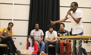 Ntokozo Qwabe speaking at Rhodes Must Fall's first mass meeting.