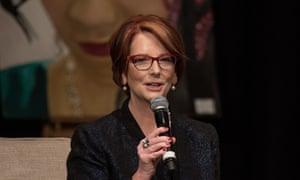 Julia Gillard in London this month.