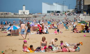 Not so Lonely … Families on the beach at Margate.