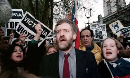 Corbyn anti-General Pinochet protest