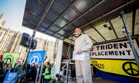At a mass march against Trident