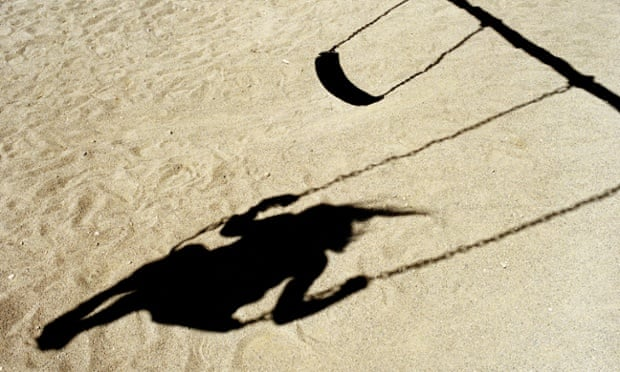 Shadow of girl on a swing