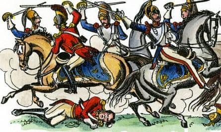 Print of Philip Astley's Battle of Waterloo