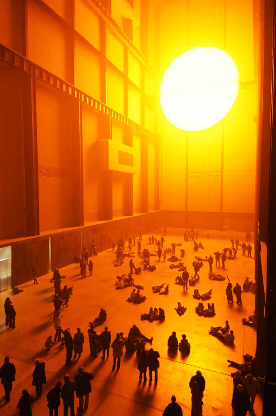 Olafur Eliasson's sun, properly titled The Weather Project, at Tate Modern's Turbine Hall in 2003.