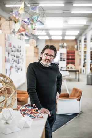 Eliasson in his Berlin studio.