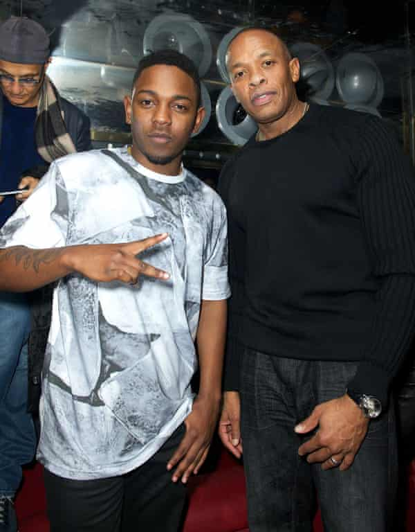 Kendrick with his mentor and fellow Compton rapper, Dr Dre.