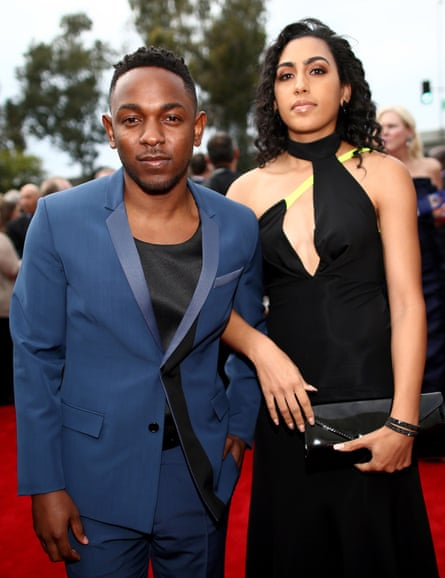 Kendrick with his high-school girlfriend, Whitney Alford. The couple recently got engaged.