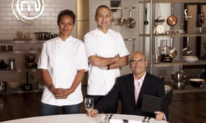 Roux with Monica Galetti and Gregg Wallace on Masterchef: The Professionals.