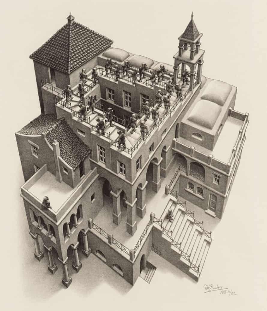 Ascending and Descending, 1960, by MC Escher