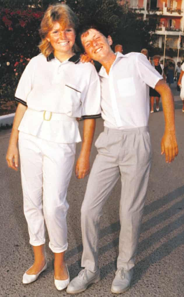 Cathy Rentzenbrink and her brother, Matty, on holiday in Corfu in 1987