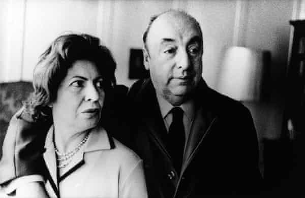 Chilean Poet Pablo Neruda and Wife Delia in London in 1965.
