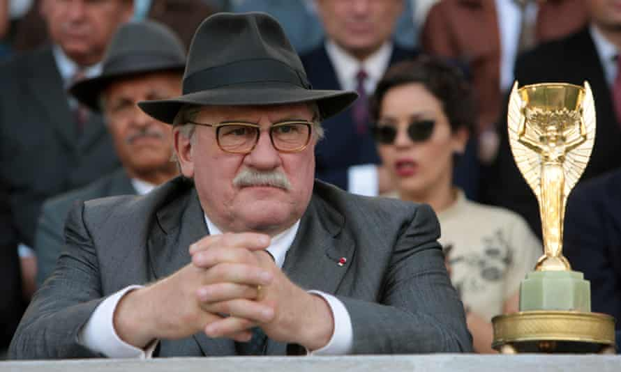 """Please don't make me the guy responsible for the fact that FIFA is rotten"" ... director Frederic Auburtin talks about United Passions, starring Gerard Depardieu in a scene from ""United Passions."""