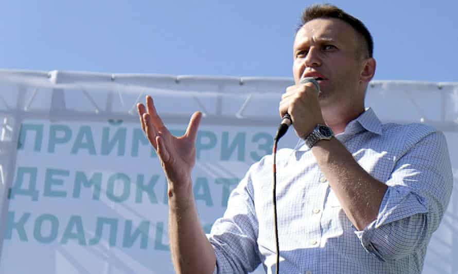 Russian opposition leader Alexei Navalny is one of the signatories of the new petition demanding Facebook change their blocking policy