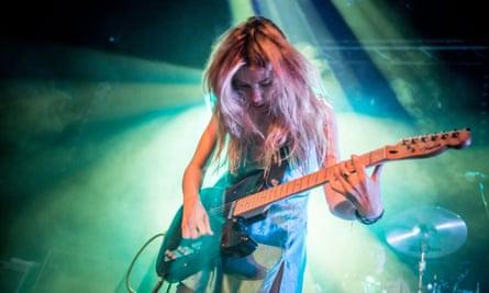 Lupine howls: Ellie onstage in Cambridge, April 2015.