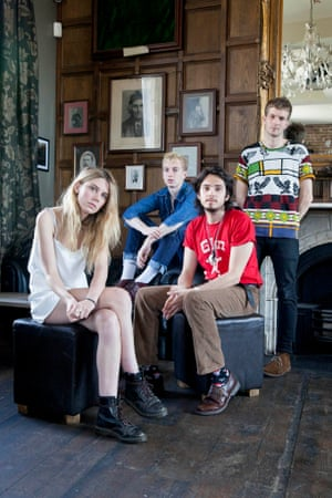 Alice band: the four-piece photographed in Camden, June 2015.