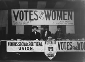 Women   s Social and Political Union Exhibition stand, probably at Claxton Hall during the Women   s Parliament, February 1908    Museum of London