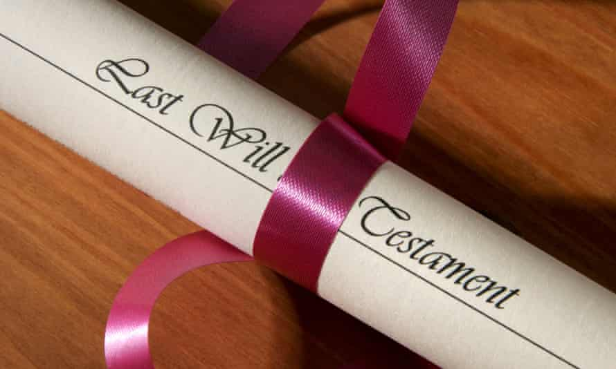 A will wrapped with a ribbon