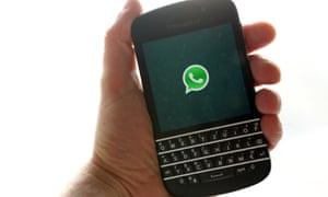 WhatsApp login logo on smartphone