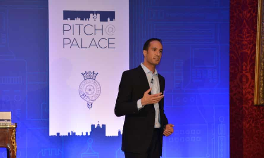 Mutaz Qubbaj at the Pitch@Palace startup competition.