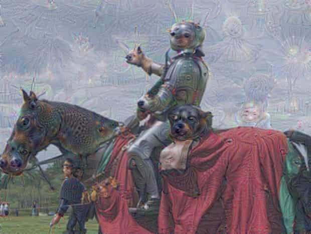 A Knight, pre- and post-animal detection.