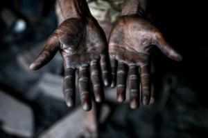 Hands get dirty