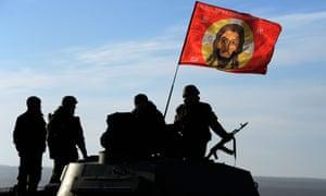 Pro-Russia militants in the Donetsk region of eastern Ukraine.