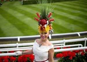 Anna Mott strikes a pose in her foliage arrangement
