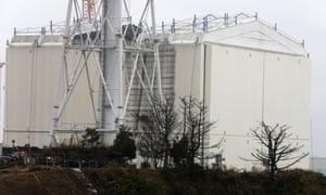 Part of the Fukushima Daiichi nuclear power plant
