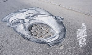 Pothole portraits Russia