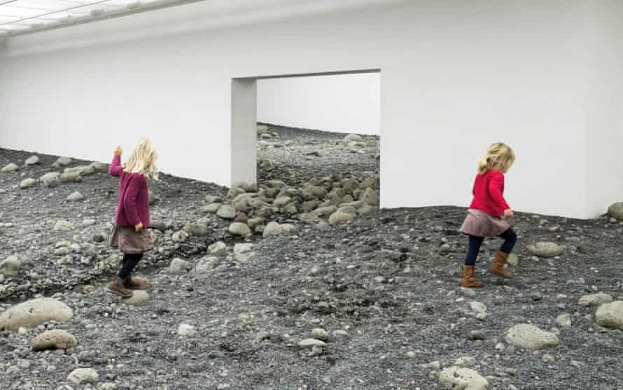 Eliasson's Riverbed, 2014, installed at Copenhagen's Louisiana Museum of Art.