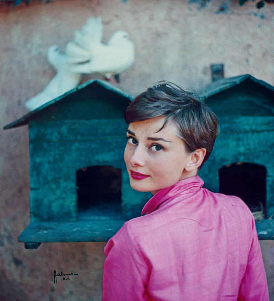 Audrey Hepburn by Philippe Halsman for the cover of Life magazine, 18 July 1955.