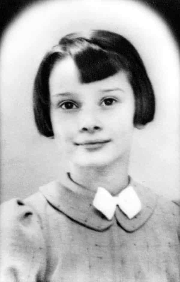 Audrey Hepburn age nine, taken by an unknown photographer in 1938.