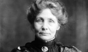 Suffragette leader Emmeline Pankhurst.