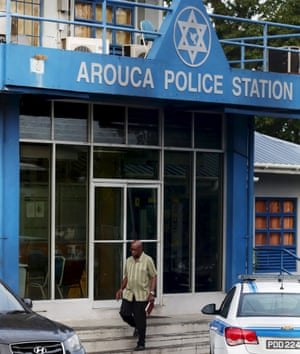 Jack Warner leaves the Arouca police station in East Trinidad on 15 June.