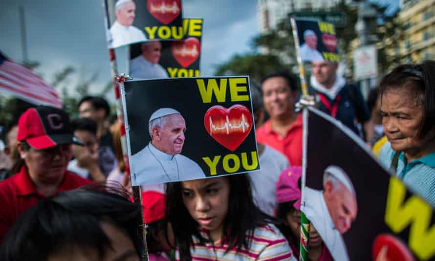 Pope Francis has aimed his broad popular message at the faithful in countries like the Philipines where he was enthusiarically received in January.