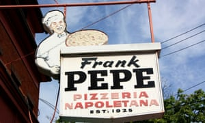 The king of 'mootz' … Frank Pepe opened his first New Haven pizza joint in 1925.