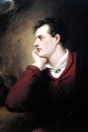 Lord Byron at 25 years old, painted by Richard Westall.