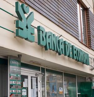 A branch of Banca de Economii S.A., Moldova's major bank.