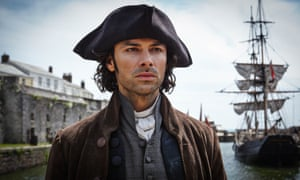 Aidan Turner as a younger Ross Poldark.
