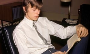 A young David Bowie (then Davy Jones) in 1965 fitting in his eight books a day.
