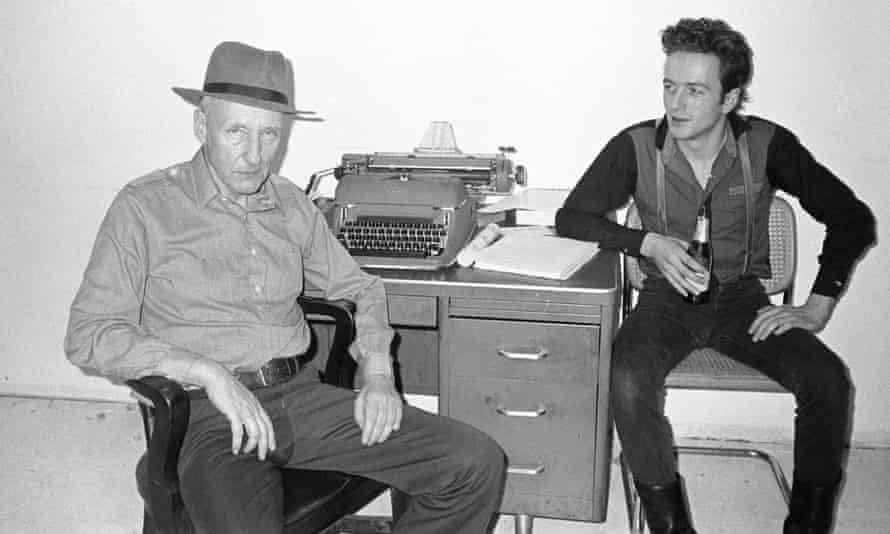 William Burroughs with an admiring Joe Strummer of the Clash in Burroughs' New York apartment in 1980. The author has had a huge influence on songwriters.